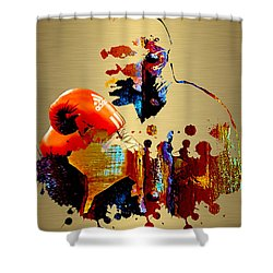 Evander Holyfield Collection Shower Curtain by Marvin Blaine