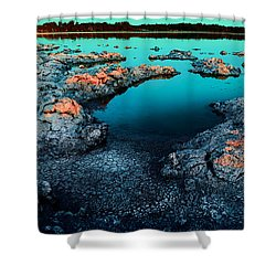 Shower Curtain featuring the photograph Evening In Lake Walyungup by Julian Cook