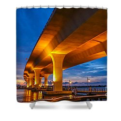 Evening On The Boardwalk Shower Curtain