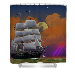 Evening Return For The Elissa Shower Curtain by J Griff Griffin