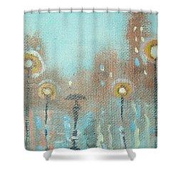 Evening Stroll Shower Curtain by Raymond Doward