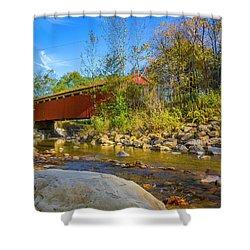 Everett Covered Bridge  Shower Curtain