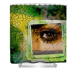 Eye, Me, Mine Shower Curtain