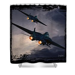 F-14 Flying Iron Shower Curtain