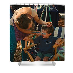 Face Painting Shower Curtain