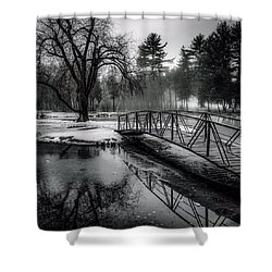 Shower Curtain featuring the photograph Fade To Black by Kendall McKernon