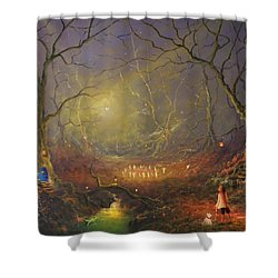 The Fairy Ring Shower Curtain
