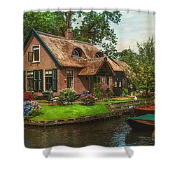 Fairytale House. Giethoorn. Venice Of The North Shower Curtain