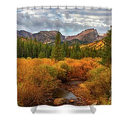 Fall In Rocky Mountain National Park Shower Curtain by Ronda Kimbrow
