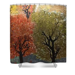 Fall Trees Shower Curtain