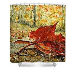 Fallen Leaf  Shower Curtain by Betty-Anne McDonald