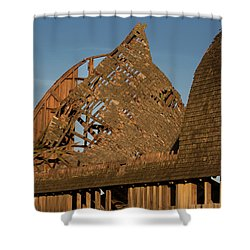 Shower Curtain featuring the photograph Falling Apart by Elvira Butler