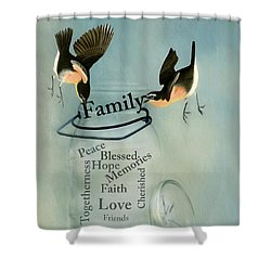 Shower Curtain featuring the photograph Family by Robin-Lee Vieira