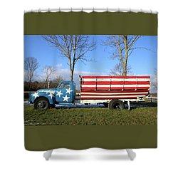 Farm Truck Wading River New York Shower Curtain