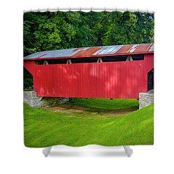 Feedwire Covered Bridge - Carillon Park Dayton Ohio Shower Curtain