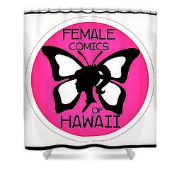 Female Comics Of Hawaii Shower Curtain by Erika Swartzkopf