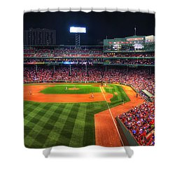 Fenway Park At Night - Boston Shower Curtain