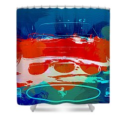 Ferrari Gto Shower Curtain by Naxart Studio