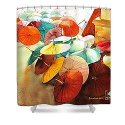 Festive Umbrellas Shower Curtain