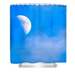 Finally Some #bluesky And The #moon Shower Curtain