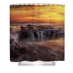 Fire And Water Shower Curtain by David Gn