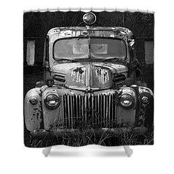 Fire Truck Shower Curtain by Ron Jones