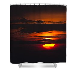 Fireball Shower Curtain by Nancy Dinsmore