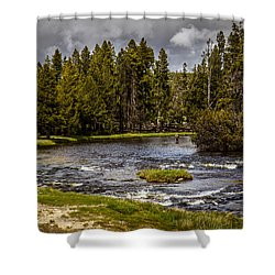Shower Curtain featuring the photograph Firehole River II by Robert Bales