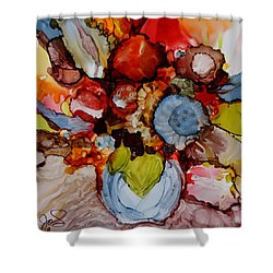 Floral With Blue Vase Shower Curtain