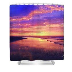 First Light At The Beach Shower Curtain