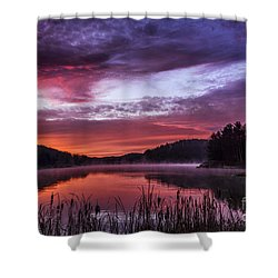 First Light On The Lake Shower Curtain by Thomas R Fletcher