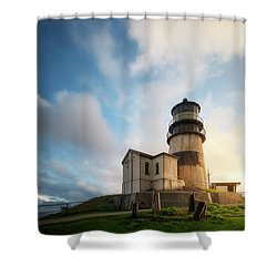 First Light Shower Curtain by Ryan Manuel