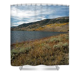 Fish Lake Ut Shower Curtain by Cindy Murphy - NightVisions