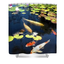 Fish Pond Shower Curtain by Gary Grayson