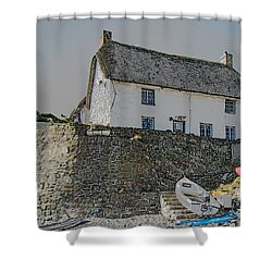 Shower Curtain featuring the photograph Fishermans Cottage by Brian Roscorla