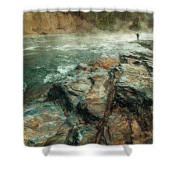 Shower Curtain featuring the photograph Fishing Day by Iris Greenwell