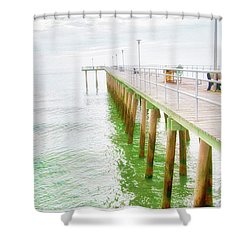 Fishing Pier, Margate, New Jersey Shower Curtain