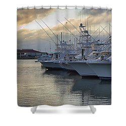 Fishing Yachts Shower Curtain