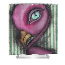 Flamingo Shower Curtain by Abril Andrade Griffith
