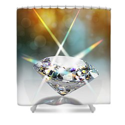 Flashing Diamond Shower Curtain