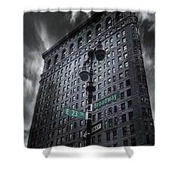 Shower Curtain featuring the photograph Flatiron Noir by Jessica Jenney