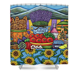 Flavours Of Provence Shower Curtain by Lisa  Lorenz