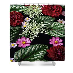 Shower Curtain featuring the photograph Floating Flower Bouquet by Byron Varvarigos