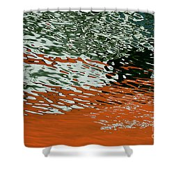 Shower Curtain featuring the photograph Floating On Blue 43 by Wendy Wilton