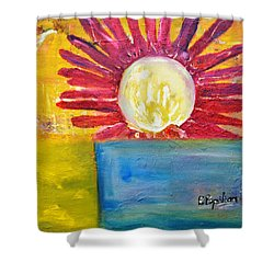 Shower Curtain featuring the painting Floral by Evelina Popilian