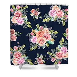 Floral Pattern 1 Shower Curtain by Stanley Wong