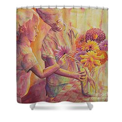 Flower Arranging Shower Curtain