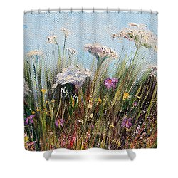 Flower Dance Shower Curtain by Meaghan Troup