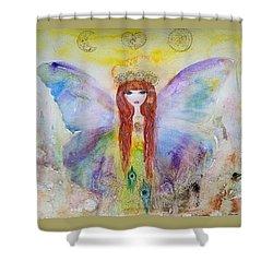 Flower Fairy  Shower Curtain