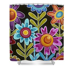 Shower Curtain featuring the painting Flower Power by Carla Bank